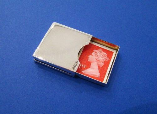 Edwardian Silver Stamp Case