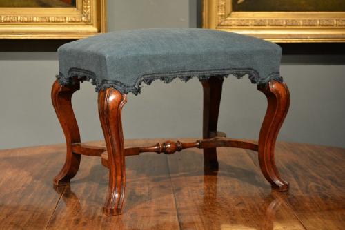 Walnut cabriole leg stool Circa 1720