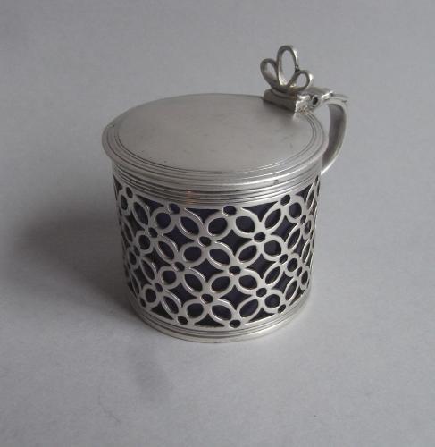 A fine early George III Mustard Pot made in London in 1764 by Samuel Herbert & Company
