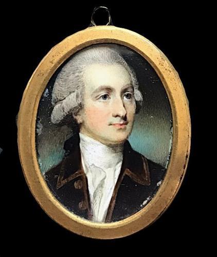 18th Century portrait miniature of an unknown Gentleman