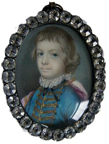 A delightful portrait of a young boy