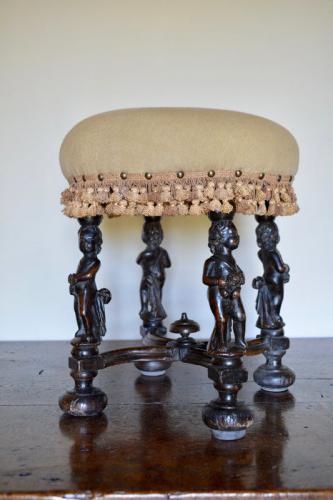 A rare Charles II circular stool