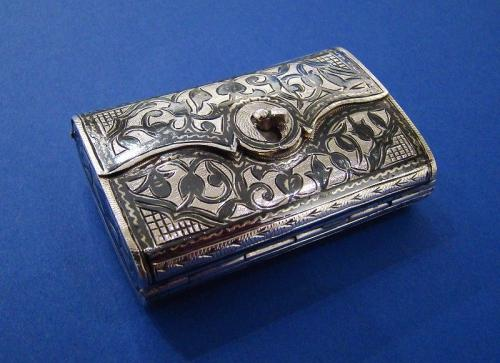 Rare Russian Silver & Niello Vesta Case