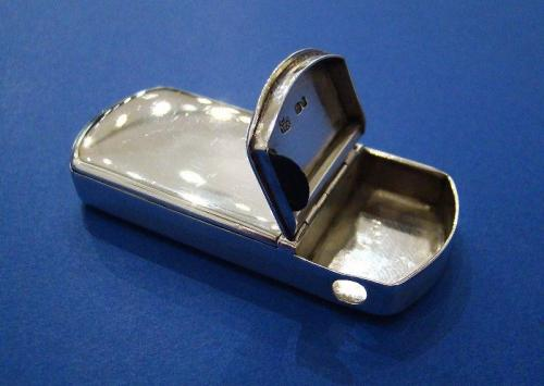 Victorian Silver & Steel Vesta Case with Cheroot Cutter