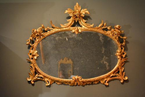 George II oval Rococo mirror