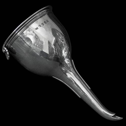Antique English George III Sterling Silver Wine Funnel by Soloman Hougham