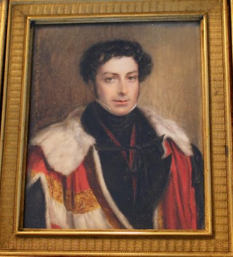 A portrait miniature of John FitzGibbon, 2nd Earl of Clare KP GCH PC (10 July 1792 - 18 August 1851)