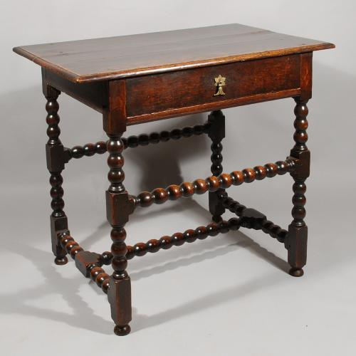 A Late 17th Century Side Table in Oak