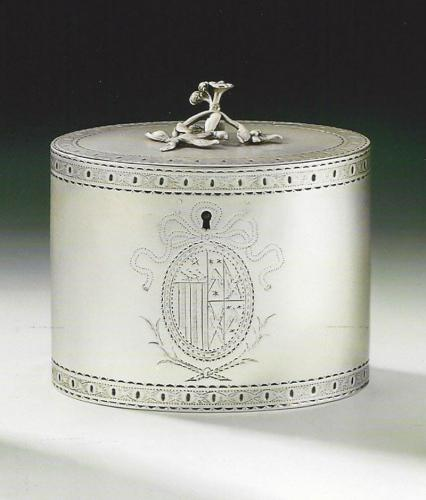A fine George III Tea Caddy made in London in 1773 by Aaron Lestourgeon