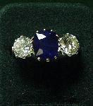 Burma Sapphire & Diamond Ring c1960