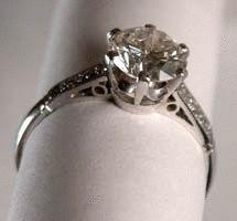 Platinum Diamond Ring c1920