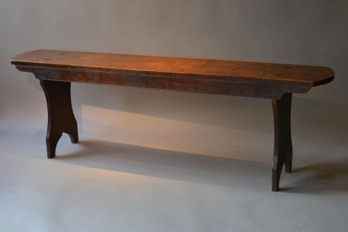 A Regency oak bench