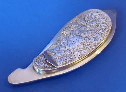 George III Silver & Cowrie-shell Snuff Box