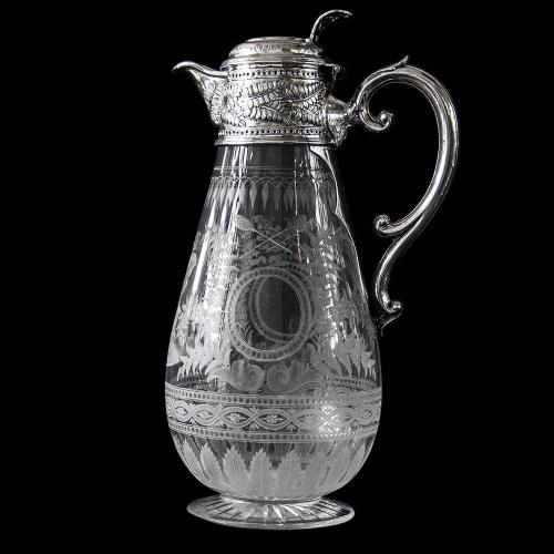 Victorian Silver Mounted Claret Jug
