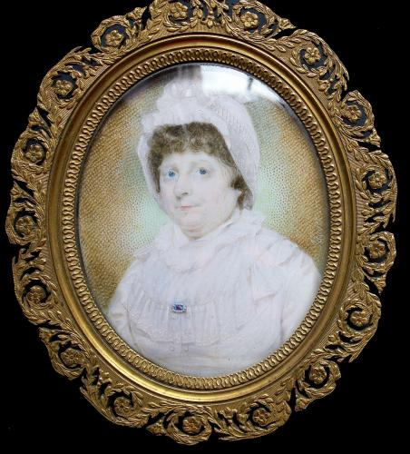 A portrait miniature of Elizabeth Jopling, nee Bradley (1741-1812)