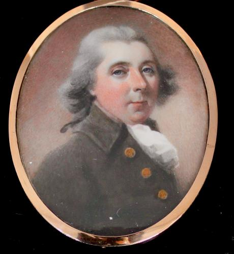 A late 18th century portrait miniature of a Gentleman