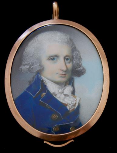 A Georgian portrait miniature of Edward (Ned) Scott (1775-1799) Equerry to the Prince of Wales (Later George IV)