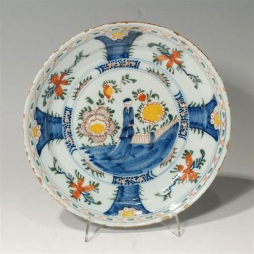 17th Century Antique Dutch Polychrome Dish
