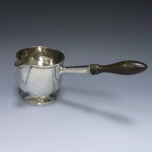 Antique Silver Brandy Pan