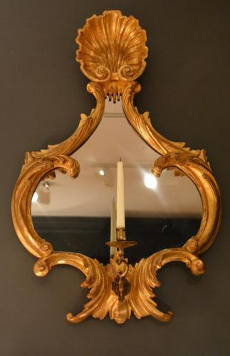 Pair of 18th Century Carved Gilt wood Mirrors