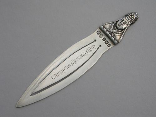 Victorian Silver Bookmark 'Manners Makyth Man' William of Wykeham