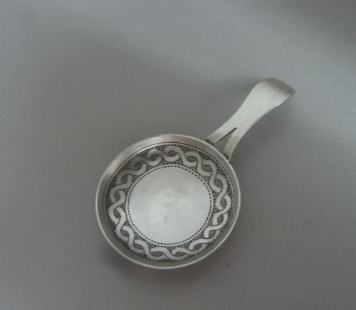 "A rare George III ""Frying Pan"" Caddy Spoon made in Birmingham in 1809 by William Pugh"