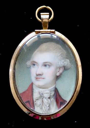 An 18th century portrait miniature of an unknown gentleman