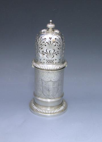A William & Mary Antique Silver 'Lighthouse' Caster