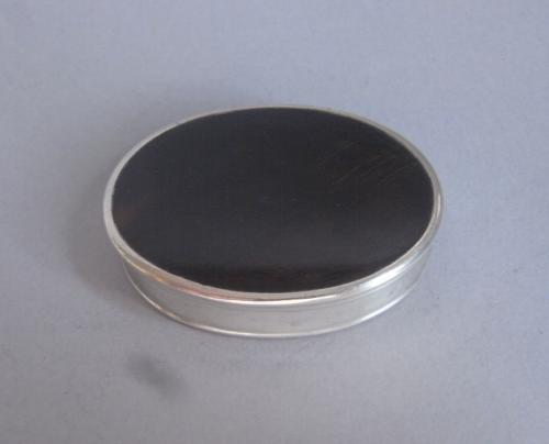 A very rare George II silver mounted tortoiseshell Patch Box made, most probably, in London circa 1740
