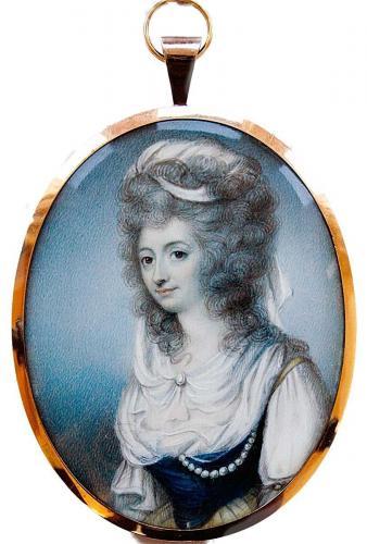 A portrait miniature of Miss Elizabeth Keppel (Died 1821) later Mrs Thomas Meyrick