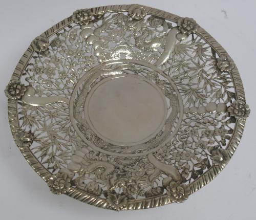 Chinese Export Silver Comport