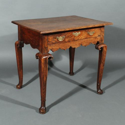 A George I Oak Single Drawer Side Table