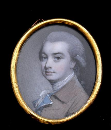 A Georgian portrait miniature of W. Williams a button maker