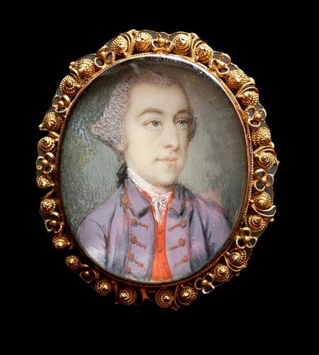 A portrait miniature of an unknown Gentleman