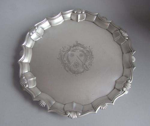 A very fine George II Salver made in London in 1745 by John Luff.
