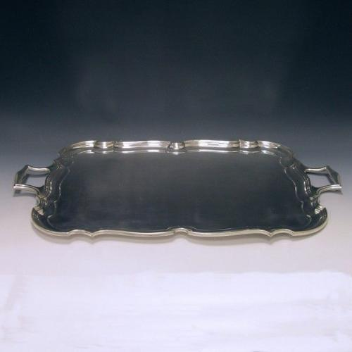Sterling Silver George V Two Handled Tea Tray
