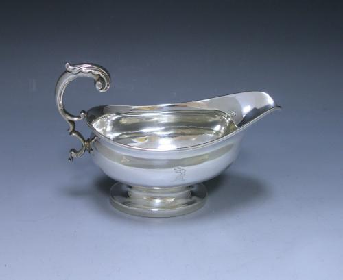 An Antique Silver George III Sauce Boat