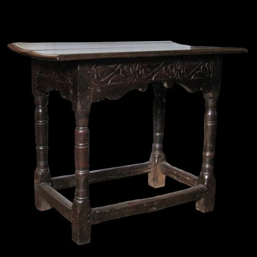 Small British Oak carved Centre table, circa 1610 – 1620