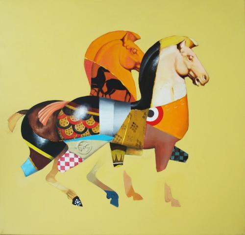 I Cavalli di Eos by Roberto Talignani (b. 1945)