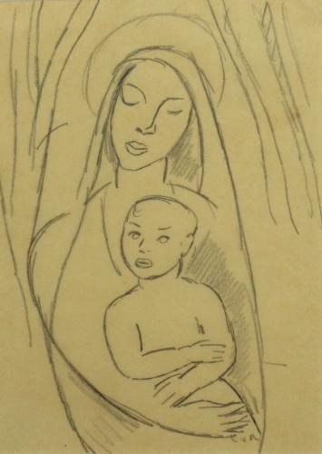 Mother and Child, Edward Wolfe, R.A. (1897-1982)