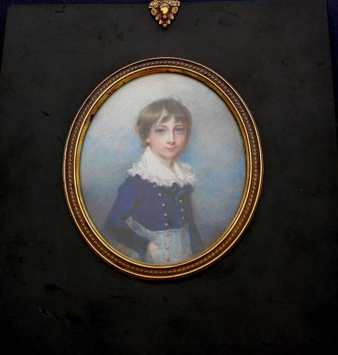 Miniature portrait of the Hon Henry Edward John Howard, afterwards Dean of Lichfield (1795-1868)