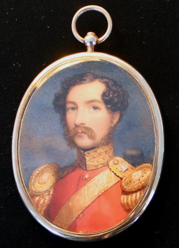 A strong miniature portrait of an Officer of the 75th Regiment of Foot