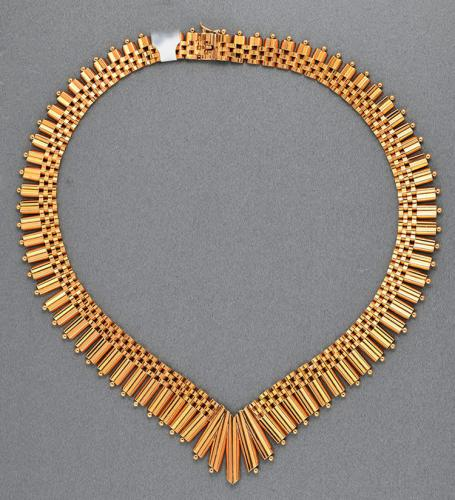 French 18ct gold wearable necklace, circa 1940