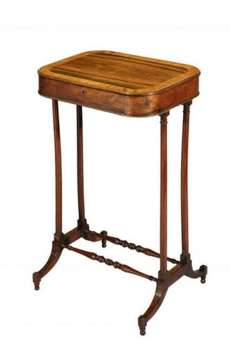 George III Rosewood Work Table