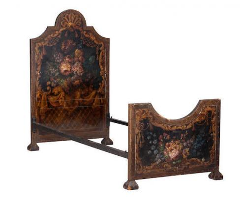 A pair of early-20th century painted beds