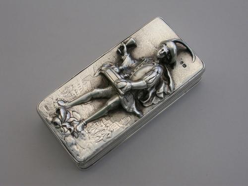 George IV Silver 'Pedlar' Snuff Box