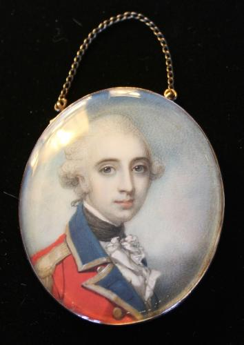 A portrait miniature of Joseph Tiffin Senhouse (1760-1805) of Calder Abbey, Cumberland
