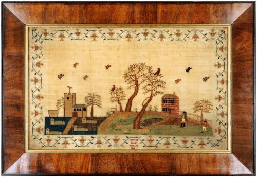 Fine English sampler worked by Martha Gray, Oxford 1811