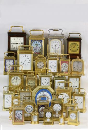 Selection of carriage clocks