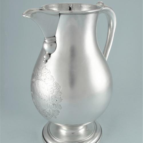 GEORGE I Sterling Silver Beer Jug by Samuel Margas